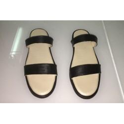 Sandali per donna in pelle nera