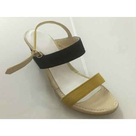 Sandali Bicolore in pelle