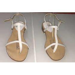 Sandali in pelle bianca