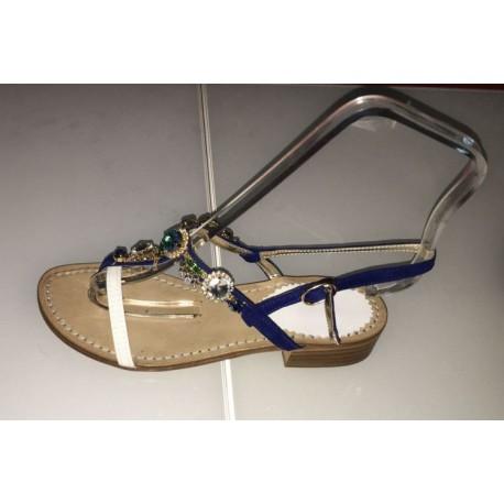 Sandali gioiello in colore blu