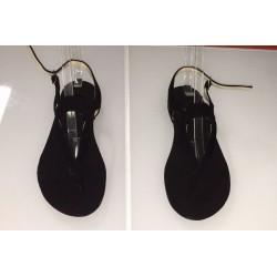 Sandali in pelle colore nera