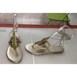 Sandali gioiello in colore oro