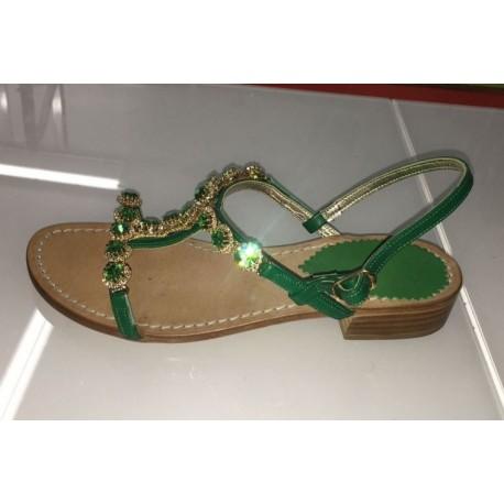 Sandali gioiello in colore verde