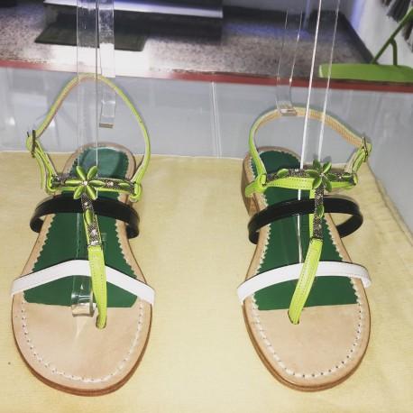 Sandalo gioiello multicolore