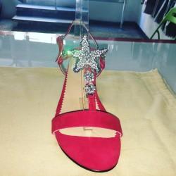 Sandali gioiello in pelle scamosciata