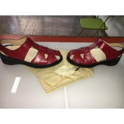 Sandali in colore rosso